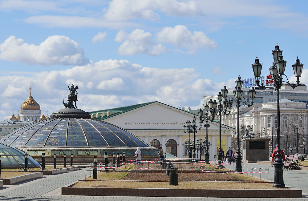 Manezhnaya Square, Moscow, Russia.
