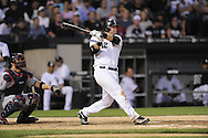 CHICAGO - JUNE 05:  A.J. Pierzynski #12 of the Chicago White Sox bats against the Cleveland Indians on June 5, 2009 at U.S. Cellular Field in Chicago, Illinois.  The Indians defeated the White Sox 6-0. (Photo by Ron Vesely)