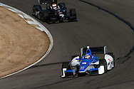 20-21 Febuary, 2012 Birmingham, Alabama USA.Takuma Sato leads Justin Wilson.(c)2012 Scott LePage  LAT Photo USA