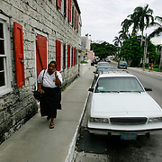 Downtown Nassau in The Bahamas.