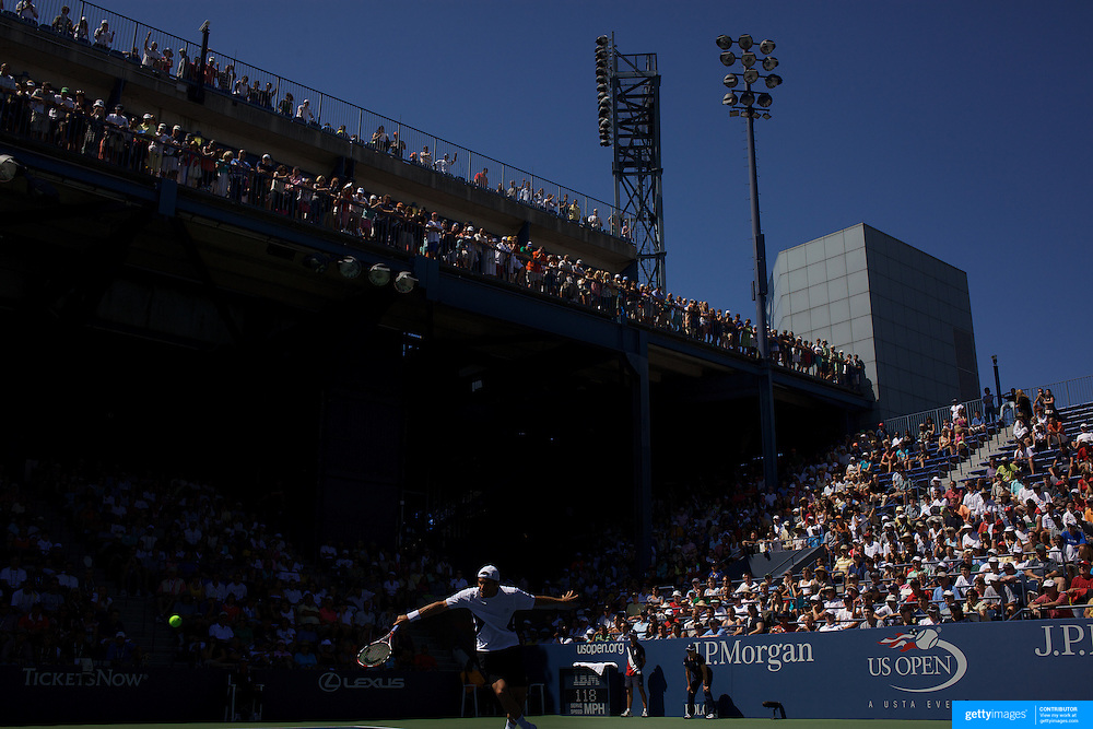 Tommy Hass, Germany, in action against Robert Kendrick, USA, during the US Open Tennis Tournament at Flushing Meadows, New York, USA, on Thursday September 3, 2009. Photo Tim Clayton.