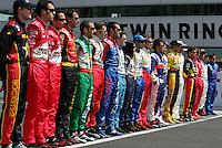 Drivers photo at the Twin Ring Motegi, Japan Indy 300, April 30, 2005