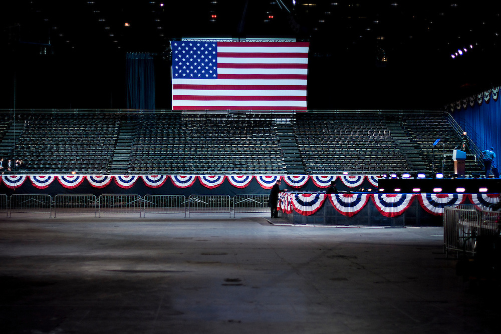 Election Night at the McCormick Place in Chicago.Barack Obama is reelected as President of The United States..