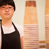 UAA Student and part time worker at the Alaska Bagel Restaurant, Boram