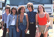 Journey 1971 Ross Valory, Steve Perry, Neal Schon, Jonathan Cain, Steve Smith.© Chris Walter.