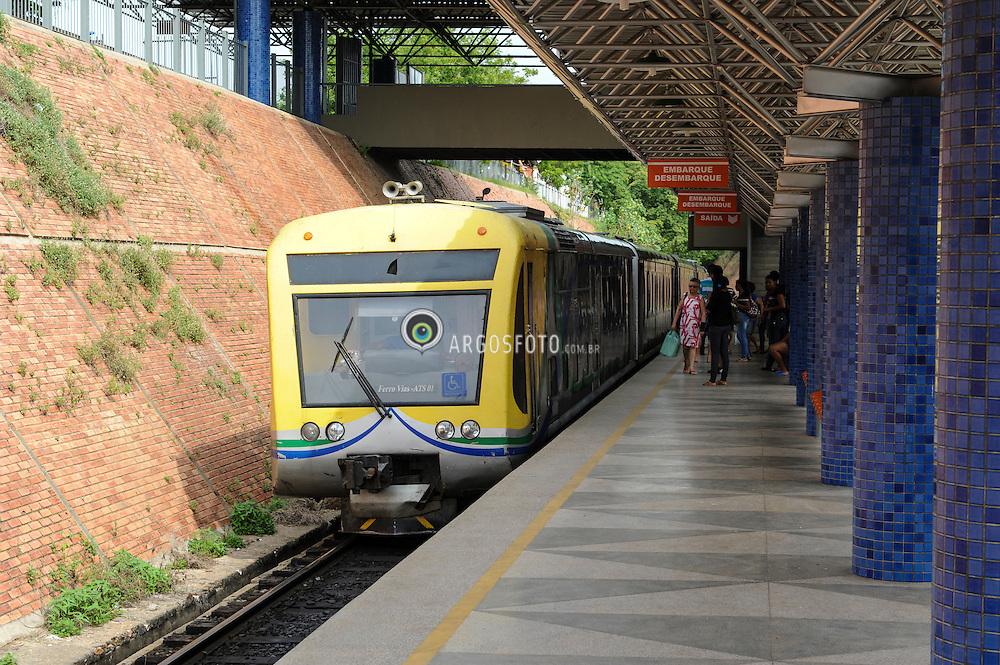 Metro de Teresina, Piaui. Estacao Frei Serafim, Linha 1, no centro da cidade. / Metro Teresina, Piaui, Brazil. Frei Serafim station, line 1, downtown.