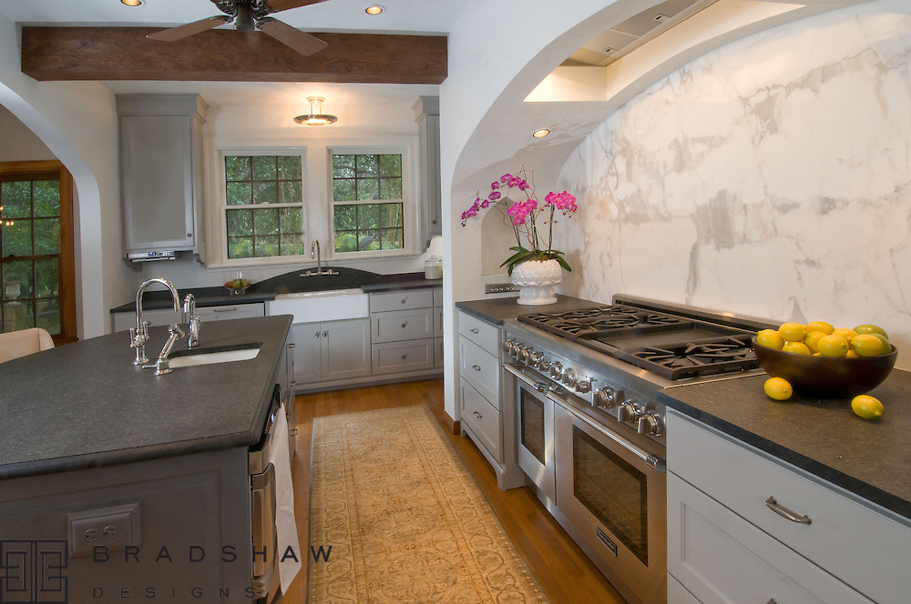 OLMOS PARK KITCHEN with HISTORICAL ARCHITECTURAL REFERENCES