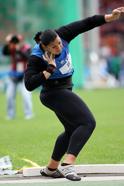 (Stuttgart, Germany---14 September 2008) Valerie Vili of New Zealand won the shot put (19.69) at the 2008 IAAF World Athletics Final. [Copyright Sean W. Burges/Mundo Sport Images, 2008.]
