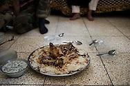 Syria. Sheep ead cooked for FSA fighters. ALESSIO ROMENZI