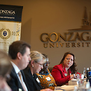 OPUS Prize Jurors on Campus. (Photo by Gonzaga University)