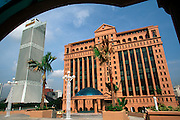 MALAYSIA, KUALA LUMPUR, ECONOMY the new Malaysia Stock Exchange Building next to the Maybank skyscraper