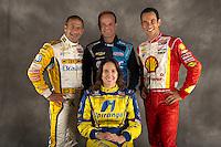 Ana Beatriz, Tony Kanaan, Rubens Barrichello and Helio Castroneves, INDYCAR Spring Training, Sebring International Raceway, Sebring, FL 03/05/12-03/09/12