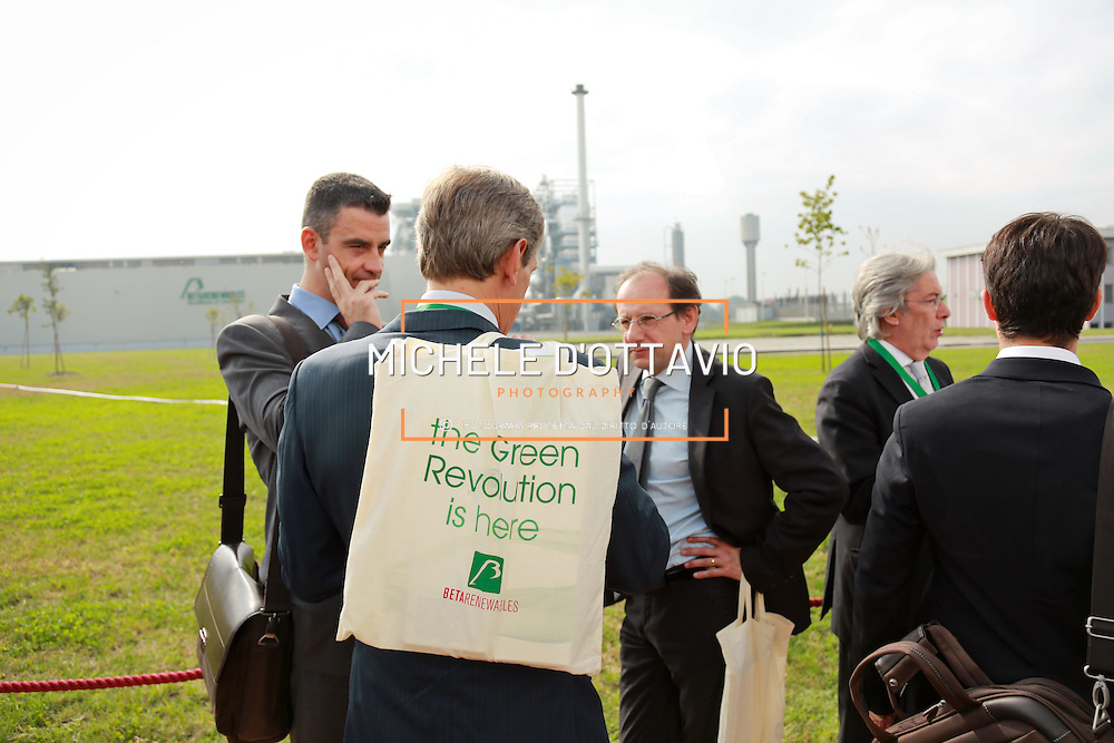 Guido Ghisolfi all'inaugurazione della Beta Renewables Mossi & Ghisolfi a Crescentino (VC) Italy. Il primo impianto al mondo per la produzione di biocarburanti di seconda generazione