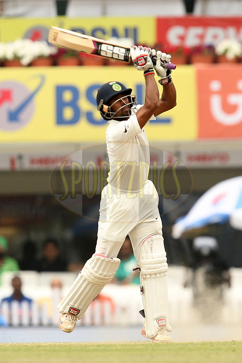 Wriddhaman Saha of India in action during day four of the third test match between India and Australia held at the JSCA International Stadium Complex in Ranchi on the 19th March 2017. Photo by: Prashant Bhoot / BCCI/ SPORTZPICS