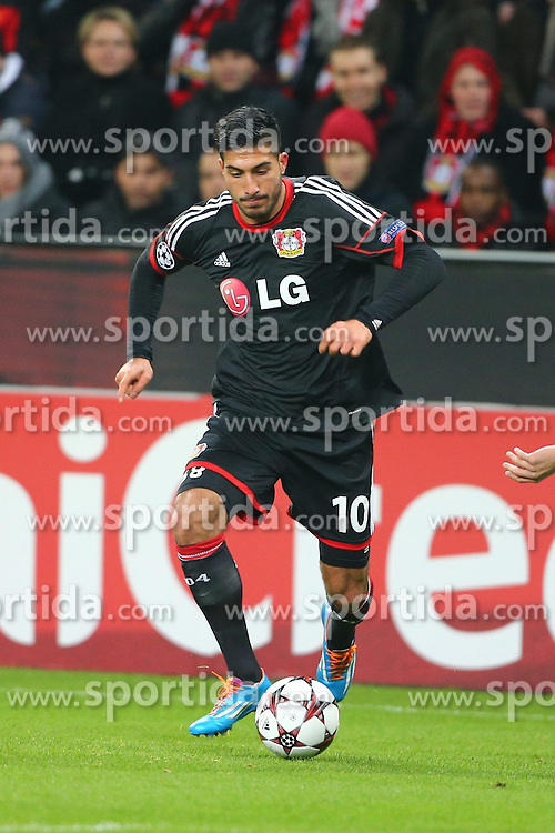 27.11.2013, BayArena, Leverkusen, GER, UEFA CL, Bayer Leverkusen vs Manchester United, Gruppe A, im Bild Emre Can (Bayer 04 Leverkusen), Freisteller, Aktion /Action // during UEFA Champions League group A match between Bayer Leverkusen vs Manchester United at the BayArena in Leverkusen, Germany on 2013/11/28. EXPA Pictures &copy; 2013, PhotoCredit: EXPA/ Eibner-Pressefoto/ Neis<br /> <br /> *****ATTENTION - OUT of GER*****