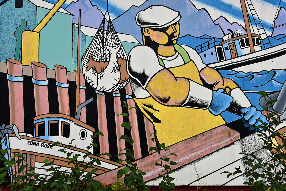 Commercial fisherman mural by tom missel in seward alaska - Exterior house painting anchorage ...