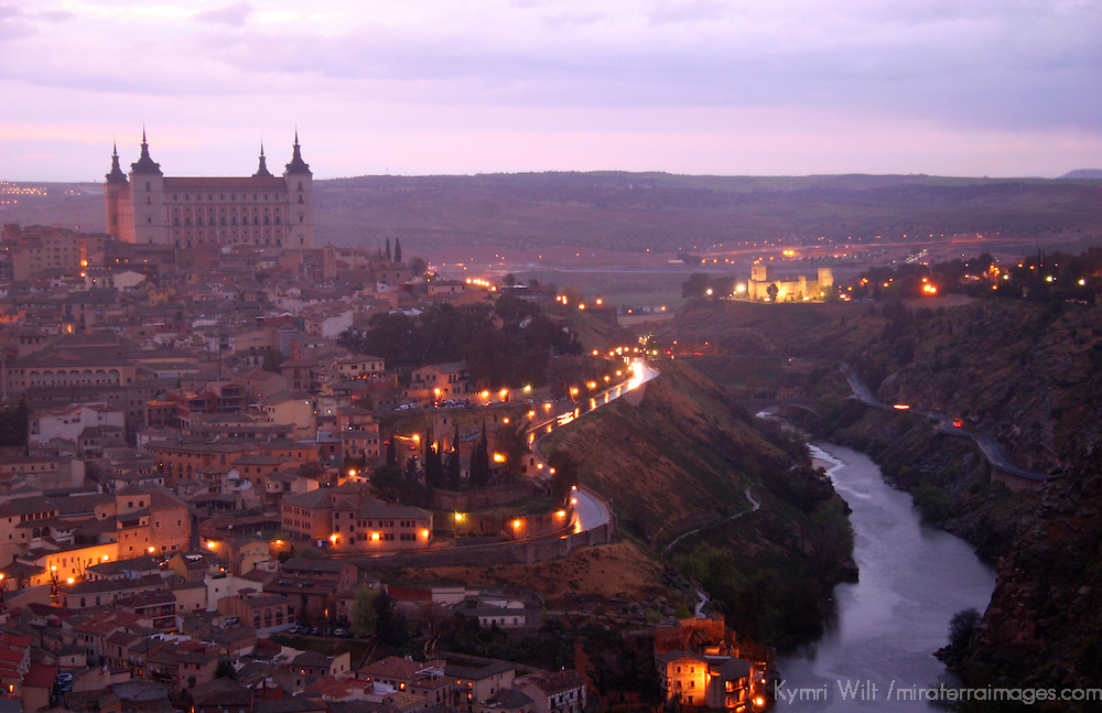 Europe, Spain, Toledo. View of the UNESCO World Heritage city of Toledo from the Parador de Toledo Hotel.