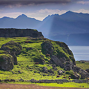 Arran from south end of Bute nr Garrochty, Isle of Bute, Argyll
