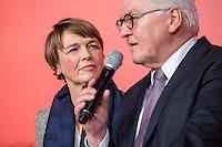 11 FEB 2017, BERLIN/GERMANY:<br /> Elke Buedenbender (L), Ehefrau von Steinmeier, und Frank-Walter Steinmeier (R), SPD, Kandidat fuer das Amt des Bundespraesidenten, waehrend einem Empfang der SPD anl. der Bundesversammlung, Westhafen Event und Convention Center<br />  IMAGE: 20170211-03-052<br /> KWYWORDS: Elke B&uuml;denbender