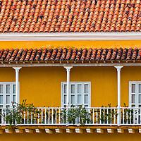 "The architecture of  ""Cartagena de indias"" Colombia"