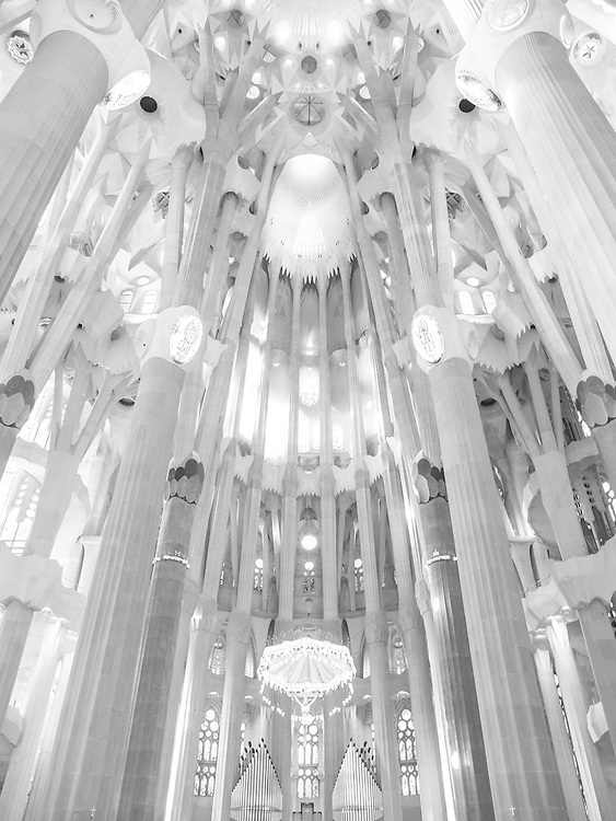 The Basílica de la Sagrada Família was designed by Catalan Spanish architect Antoni Gaudí. Although incomplete, the church is a UNESCO World Heritage Site. In November 2010 Pope Benedict XVI consecrated and proclaimed it a minor basilica.