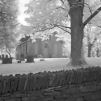 Rural Kentucky church and cemetery.  Infrared (IR) landscape photograph by fine art photographer Michael Kloth.