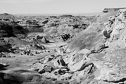 The Bisti Badlands landscape in New Mexico