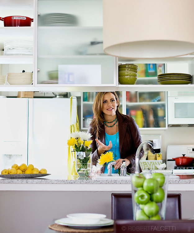 NEW YORK, NY: Krista Watterworth has starred in four seasons of HGTV's Save My Bath as host-designer and in 2009 will star in a new HGTV show called Splurge & Save..(Photo by Robert Falcetti)