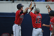 Mississippi's Matt Snyder hits a solo home run vs. LSU college baseball in Oxford, Miss. on Saturday, April 23, 2010.