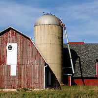 A collection of Barns that still can be seen while traveling the countryside in  the beautiful State of Wisconsin.<br /> Washington County- Red Barn on Hwy 33 and Hwy 175 west of Allenton.