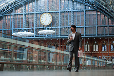 Lucy Orta 'Clouds:meteoros' unveiled at St Pancras Station