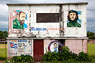 Baseball field building in Velasco, Holguin, Cuba.
