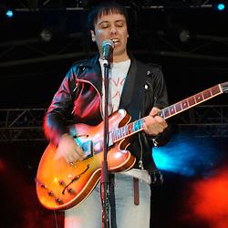 The Cribs play live at the White Air Festival on Brighton Beach