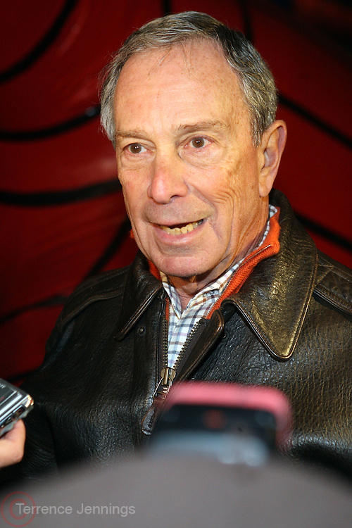 24 November 2010-New York, NY-Mayor Michael Bloomberg at The 84th Annual Macy's Balloon Inflation Night held at The Museum of Natural History on Thanksgiving Eve, November 24, 2010 in New York City. Photo Credit: Terrence Jennings