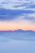 Sunset on White Sands National Monument. Near Alamogordo, New Mexico.