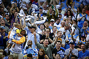 SHOT 5/3/09 3:29:08 PM - Denver Nuggets' fans cheer their team on against the Dallas Mavericks during their NBA Western Conference Semifinals Game 1 at the Pepsi Center in Denver, Co. on Sunday May 3, 2009. The Nuggets won the first game of the series 109-95..(Photo by Marc Piscotty / © 2009)