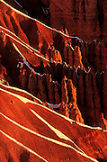Image of Bryce Canyon National Park with snow, Utah, American Southwest, Rock formation called Wall Street