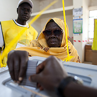 Voters on  the first day of voting for Southern Sudan's referendum for separation on Jan. 9. 2011 in Juba.