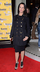 Andrea McLean attends Beautiful - The Carole King Musical Press Night at The Aldwych Theatre, The Aldwych, London on Tuesday 24 February 2015 February 2015