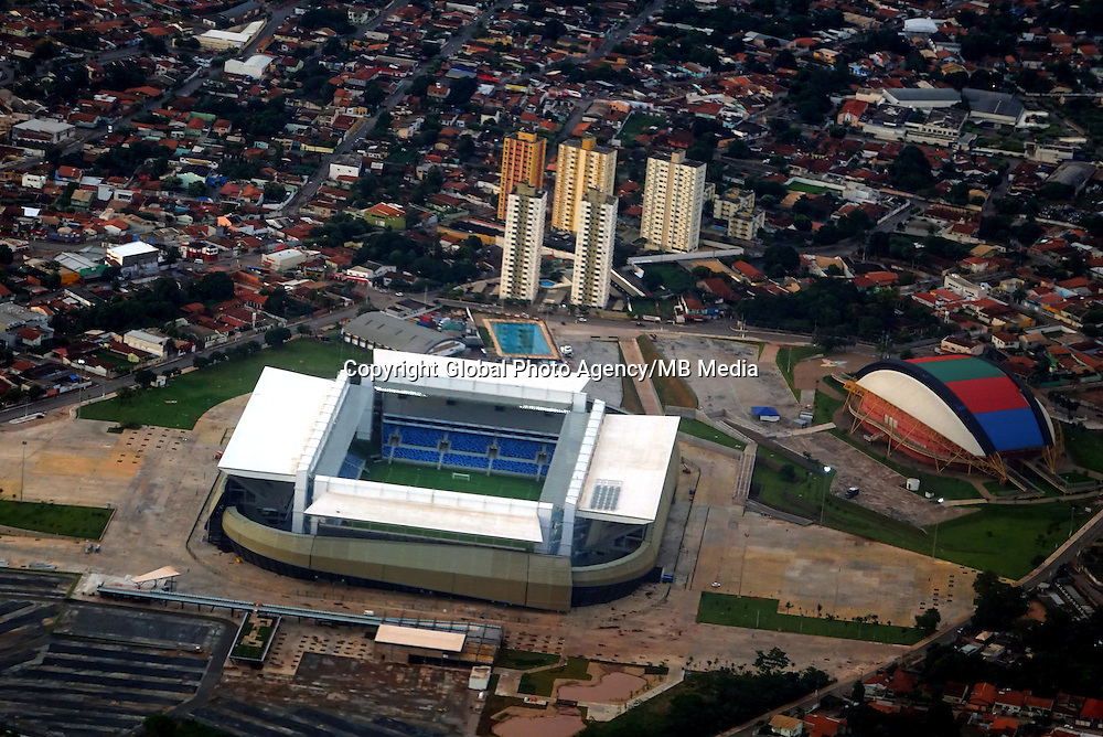 Football Fifa World Cup Brazil 2014 / <br /> Cuiaba- Mato Grosso - Brazil - ( Santos Fc vs Mixto Team  0-0 )<br /> Opening Match and Cerimony of New Stadium &quot; Arena Pantanal Stadium &quot; , Ready for the next  <br /> FIFA World Cup Brazil 2014  , and able to accommodate a capacity of 42.968 Spectators