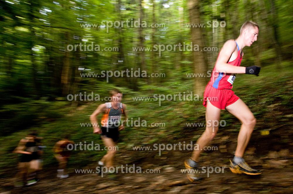 Gasper Bregar of Slovenia at the 30th Smarna Gora Mountain running race as the final race of WMRA GRAND PRIX and Slovenian mountain running cup, on October 3, 2009, Smarna Gora, Ljubljana, Slovenija. (Photo by Vid Ponikvar / Sportida)