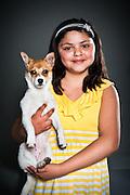 Kayla Perez with Lola, a six-month-old chihuahua mix.