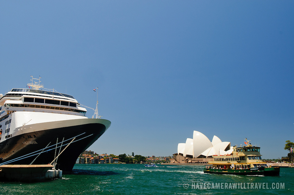 Cruise Ship In Sydney Harbour  Have Camera Will Travel