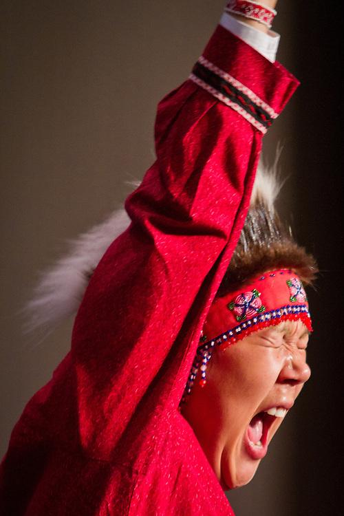 Quyana Alaksa dance celebration, AFN Annual Convention, Dena'ina Convention Center, Anchorage, Alaska