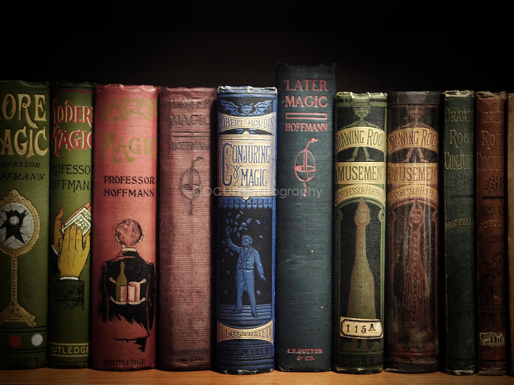 An example of the thousands of books kept in The Magic Circle's library.