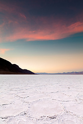 """""""Sunrise at Badwater Basin 1"""" - Sunrise photograph of salt flat formations at Badwater Basin in Death Valley, California."""