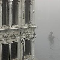 Gondola in the fog&amp;#xA;Venice Italy ( weather mist boat tourist transportation channel canal river water ) &amp;#xA;@ Kike Calvo - V&amp;W<br />