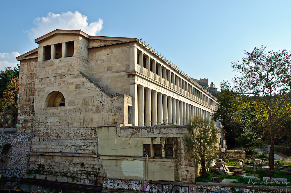 The Ancient Agora (forum) of Athens was the central marketplace of Greece.