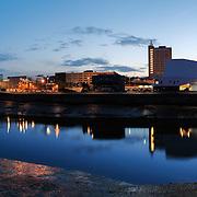 Newport panoramic city skyline
