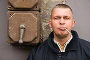 21.10.2007 Warszawa nz Adam Nowak lider zespolu Raz Dwa Trzy kompozytor i autor tekstow.Fot Piotr Gesicki
